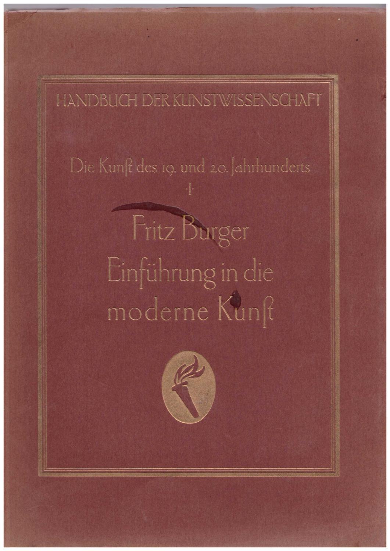 Einführung in die moderne Kunst I. aus: Burger, Fritz