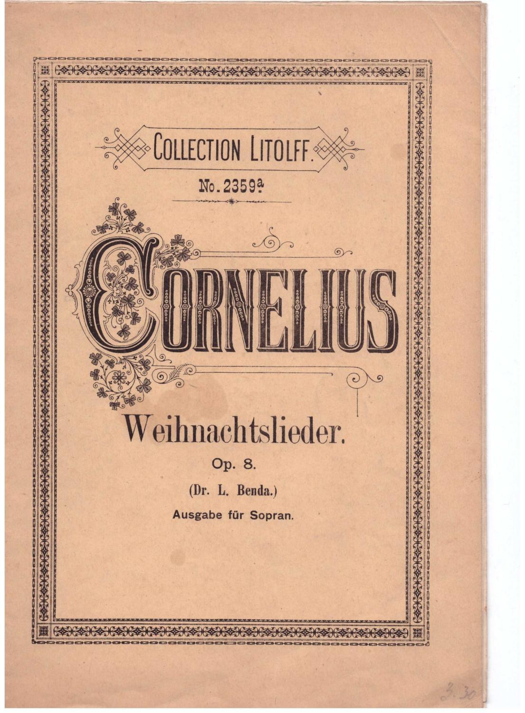 weihnachtslieder für eine von cornelius - ZVAB
