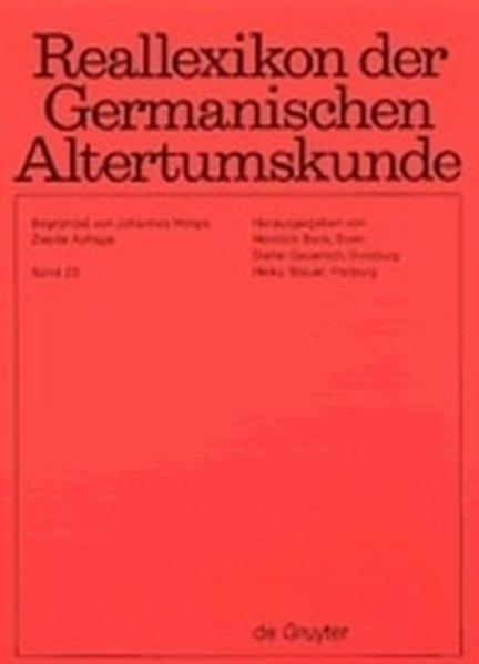 Reallexikon der Germanischen Altertumskunde / Pfalzel -: Hoops, Johannes, Heinrich