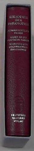 Schriften zur angewandten Philosophie, Werke II. In: Philosophie, - FICHTE