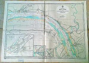 Die Elbe von Brunsbüttelkoog bis Krautsand, Karte: Hydrographisches Institut