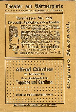 Programmheft vom 2. - 4. September 1904.: Theater am Gärtnerplatz.
