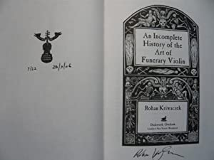 Incomplete History of The Art of Funerary: Kriwaczek, Rohan: