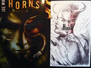 Horns +++ rare hand-illustrated, traycased, double signed,: Hill, Joe: