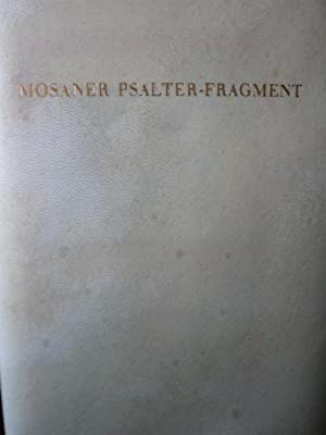 Mosaner Psalter-Fragment. Codex 78 A 6.,
