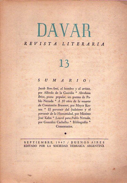 Davar No 13 Septiembre De 1947 Abraham