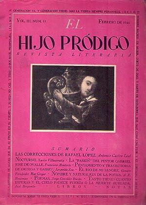EL HIJO PRODIGO. No. 11, año I, vol. III, febrero 1944: Barreda, Octavio G. (editor)