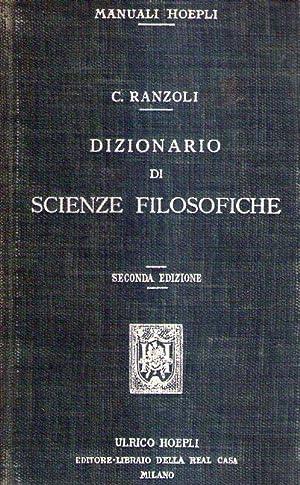 DIZIONARIO DI SCIENZE FILOSOFICHE: Ranzoli, C.
