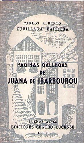 PAGINAS GALLEGAS DE JUANA DE IBARBOUROU: Zubillaga Barrera, Carlos