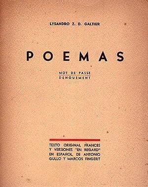 POEMAS. Mot de Passe. Denouement. Texto original en francés y versiones en regard en espa&...