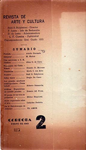 ABRAXAS - No. 2, enero de 1949: Bulgheroni, Raul R. (Director)