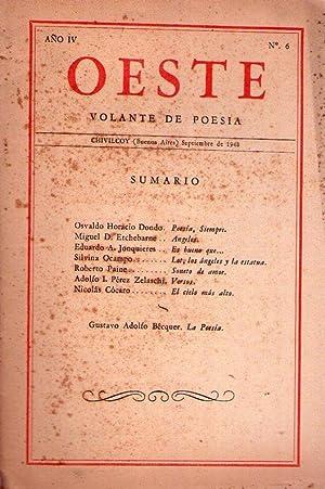 OESTE - No. 6 - Año IV, septiembre de 1948. (Lot, los ángeles y la estatua por ...