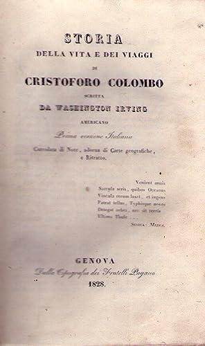 STORIA DELLA VITA E DEI VIAGGI DI CRISTOFORO COLOMBO. (2 vols). Scritta da Washington Irving, ...