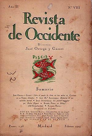 REVISTA DE OCCIDENTE - No. VIII - Año II - Febrero 1924 - (No. 8, Año 2): Ortega y ...