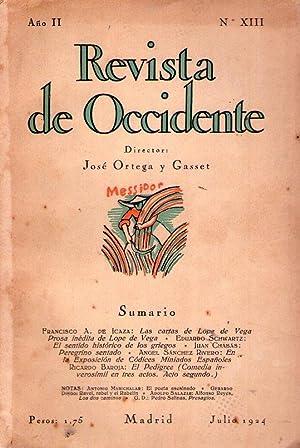 REVISTA DE OCCIDENTE - No. XIII - Año II - Julio 1924 - (No. 13, Año 2): Ortega y ...