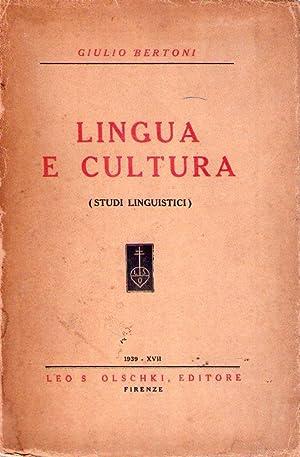 LINGUA E CULTURA. Studi linguistici: Bertoni, Giulio