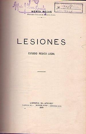 LESIONES. Estudio médico - legal: Rojas, Nerio