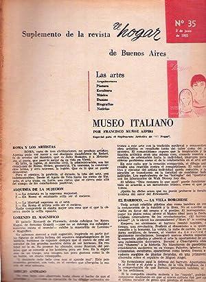 EL HOGAR - Suplemento No. 35, junio de 1955. (Laxeiro, quien es quien en la pintura por Mariano ...