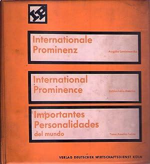 INTERNATIONALE PROMINENZ. Ausgabe lateinamerika / INTERNATIONAL PROMINENCE. Edition Latin ...