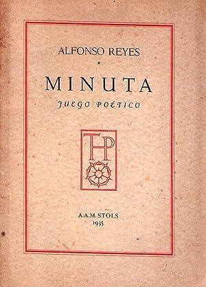 MINUTA. Juego poético. Con grabados de Marguerite Barciano: Reyes, Alfonso