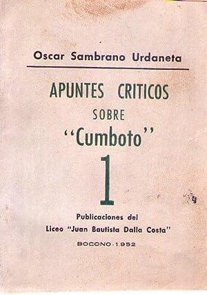 APUNTES CRITICOS SOBRE CUMBOTO: Sambrano Urdaneta, Oscar