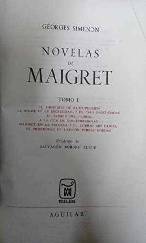 NOVELAS DE MAIGRET. Tomos I, II, III, IV, V, VI, VII, VIII y X. (9 tomos). Prólogos de ...