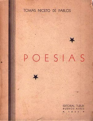 POESIAS [Firmado / Signed]: Niceto de Pablos, Tomas