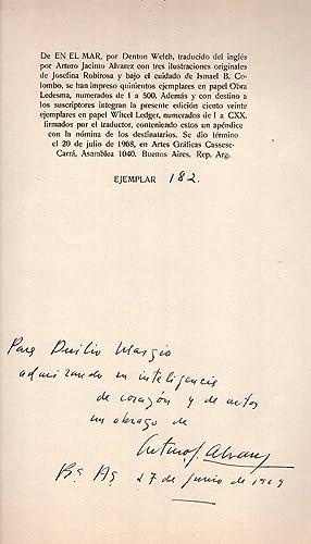 EN EL MAR. Traducción y prólogo de Arturo Jacinto Alvarez. Con dos ilustraciones y un...