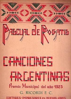 CINCO CANCIONES ARGENTINAS. Vidala, Canción de cuna, Chacarera, Yaraví, Gato: Rogatis...