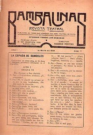BAMBALINAS. Nos. 6, 7, 8, 12, 14, 16, 20, 26, 27, 32 y 39. Año I de 1918 y Nos. 40, 45, 54 y...