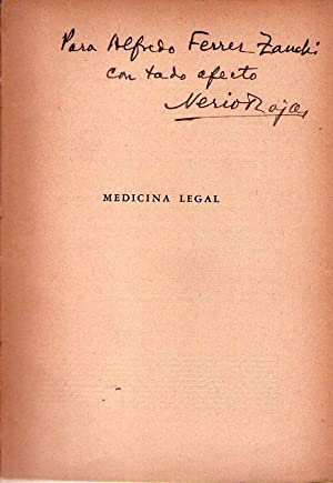 MANUAL DE MEDICINA LEGAL.Tomo I. [Firmado /: Rojas, Nerio