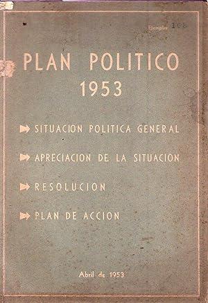 PLAN POLITICO 1953. Situación política actual. Apreciación de la situaci&...