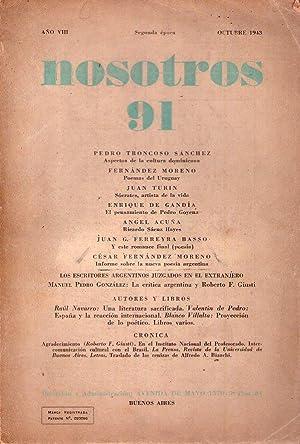 NOSOTROS - No. 91 - Segunda época.: Bianchi, Alfredo A.