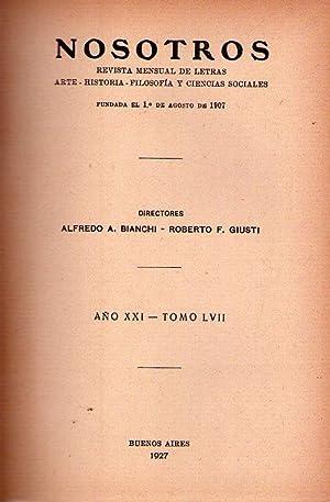 NOSOTROS - Nos. 219 y 220, Tomo: Bianchi, Alfredo A.