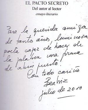 EL PACTO SECRETO. Del autor al lector. Ensayo literario. [Firmado / Signed]: Isoldi, Beatriz