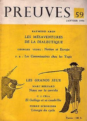 PREUVES - No. 59, Janvier 1956: Bondy, Francois Gil (Director)