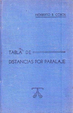 TABLA DE DISTANCIAS POR PARALAJE: Cobos, Norberto B.