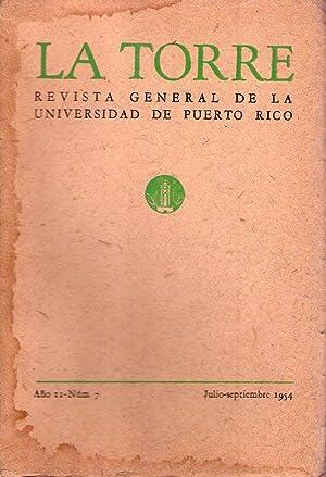 LA TORRE - No. 7 - Año II, julio septiembre de 1954. (Para una poética por Julio Cort...