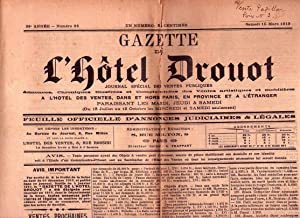 GAZETTE DE L'HOTE DROUT - No. 24 - 28 année, samedi 15 Mars 1919: Frappart, A. (...