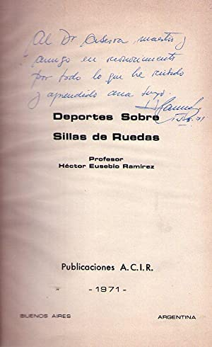 DEPORTES SOBRE SILLAS DE RUEDAS [Firmado / Signed]: Ramirez, Hector Eusebio