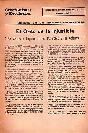 CRISTIANISMO Y REVOLUCION. Suplemento de Nos. 6 - 7 abril de 1968. (Crisis en la iglesia argentina)...