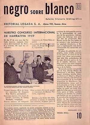 NEGRO SOBRE BLANCO - No. 10, tercera época, diciembre de 1959: Losada, Gonzalo (Director)