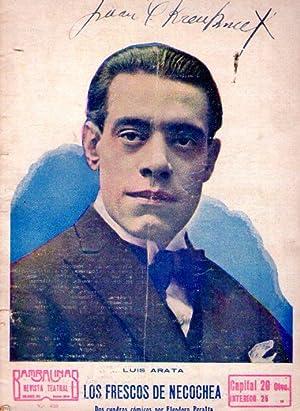 LOS FRESCOS DE NECOCHEA por Eleodoro Peralta, pieza cómica en dos actos. (Bambalinas - No. ...