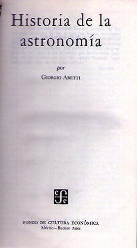 HISTORIA DE LA ASTRONOMIA: Abetti, Giorgio