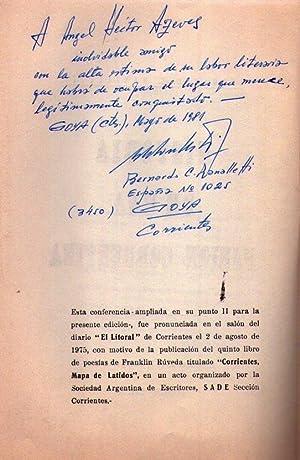 HISTORIA DE UNA PASION CORRENTINA. Reflexiones sobre la obra poética de Franklin Ruveda [...