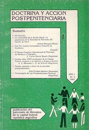 DOCTRINA Y ACCION POSTPENITENCIARIA - No. 2: Aparicio, Julio Enrique