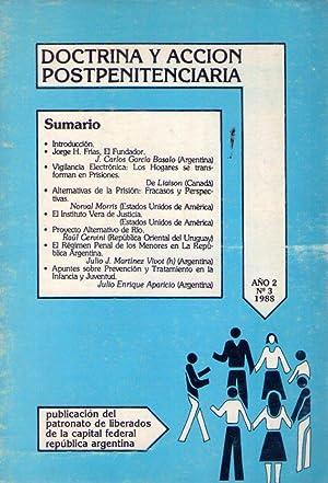 DOCTRINA Y ACCION POSTPENITENCIARIA. No. 3. Año: Aparicio, Julio Enrique