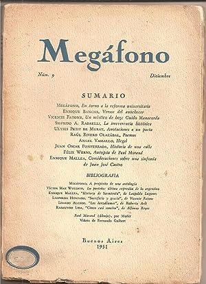 MEGAFONO.Tomo II. No. 9. Diciembre 1931: Radaelli, Sigfrido A.