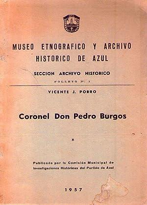 CORONEL DON PEDRO BURGOS: Porro, Vicente J.