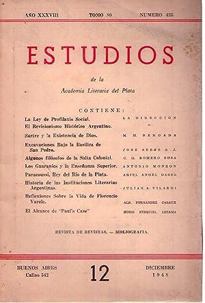 ESTUDIOS - No. 435. Año XXXVIII, tomo 80. Diciembre 1948 (Los guaraníes y la ense&...